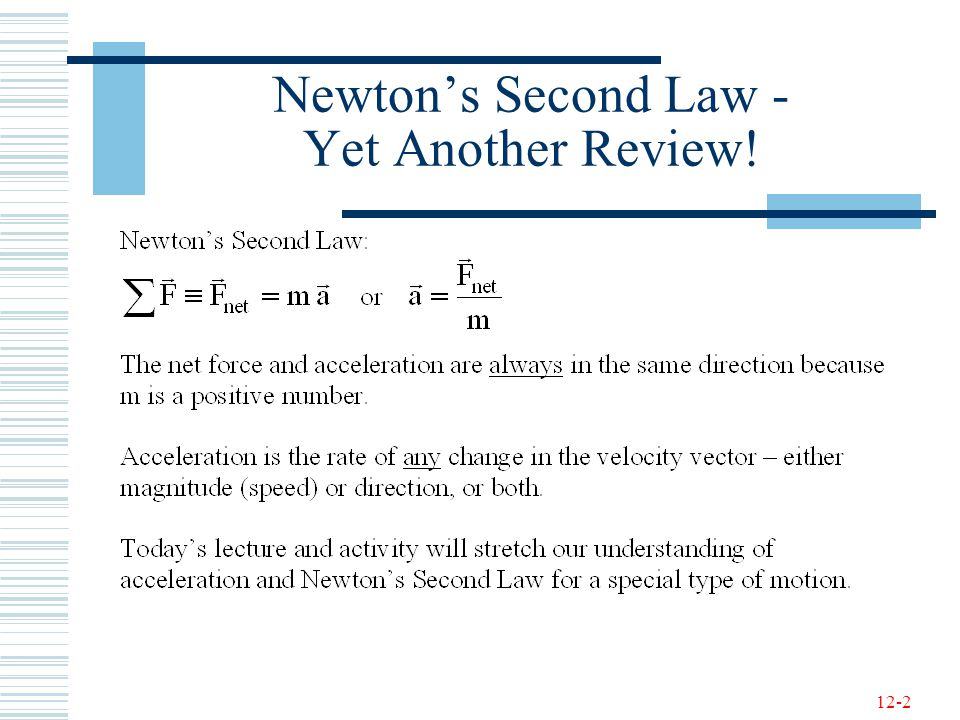 Newton's Second Law - Yet Another Review!