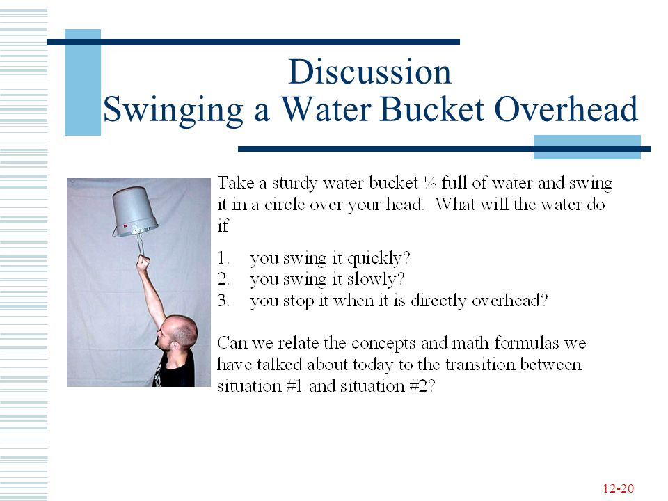 Discussion Swinging a Water Bucket Overhead