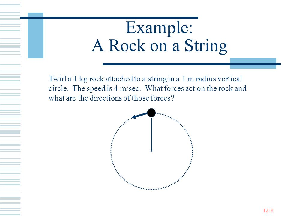 Example: A Rock on a String