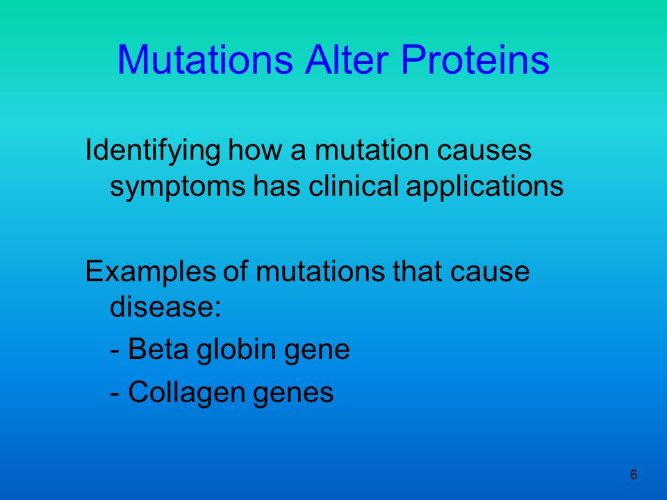 Mutations Alter Proteins