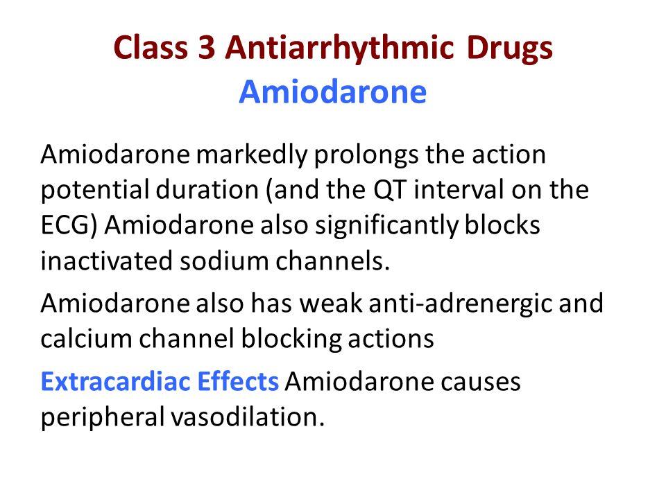 Class 3 Antiarrhythmic Drugs Amiodarone