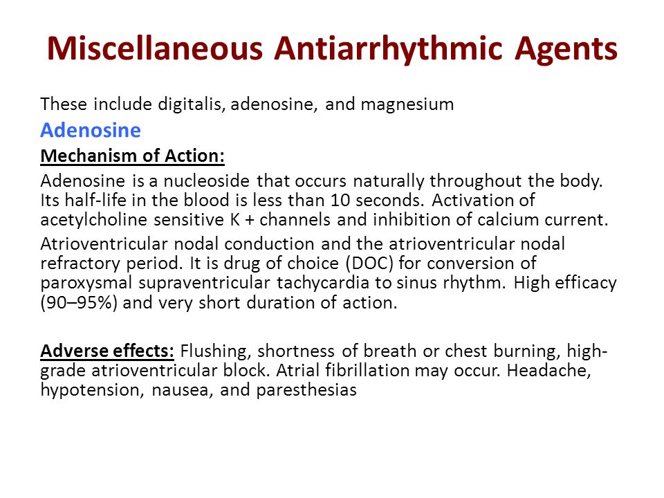 Miscellaneous Antiarrhythmic Agents