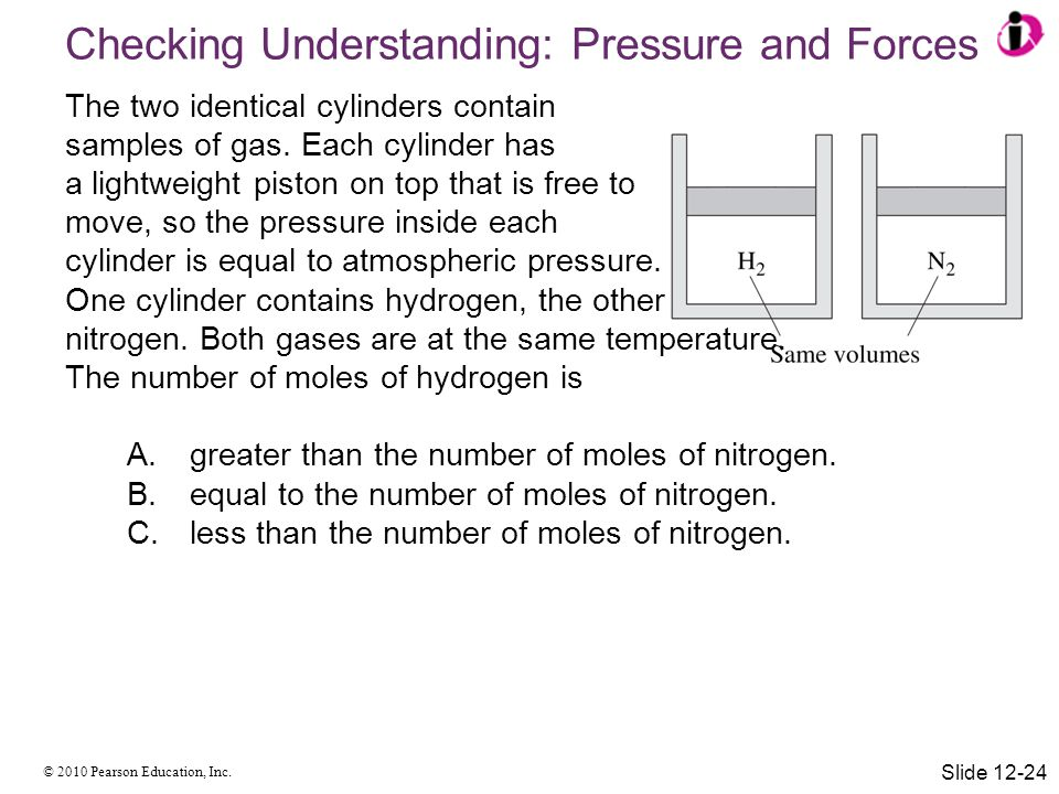 Checking Understanding: Pressure and Forces
