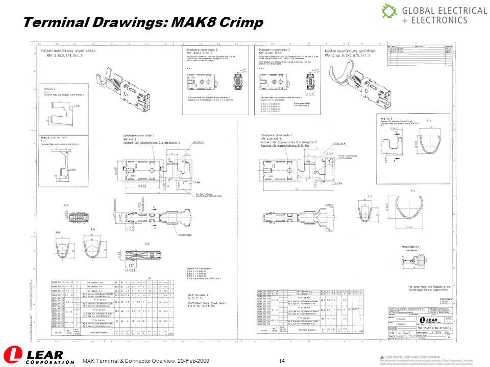 Terminal Drawings: MAK8 Crimp