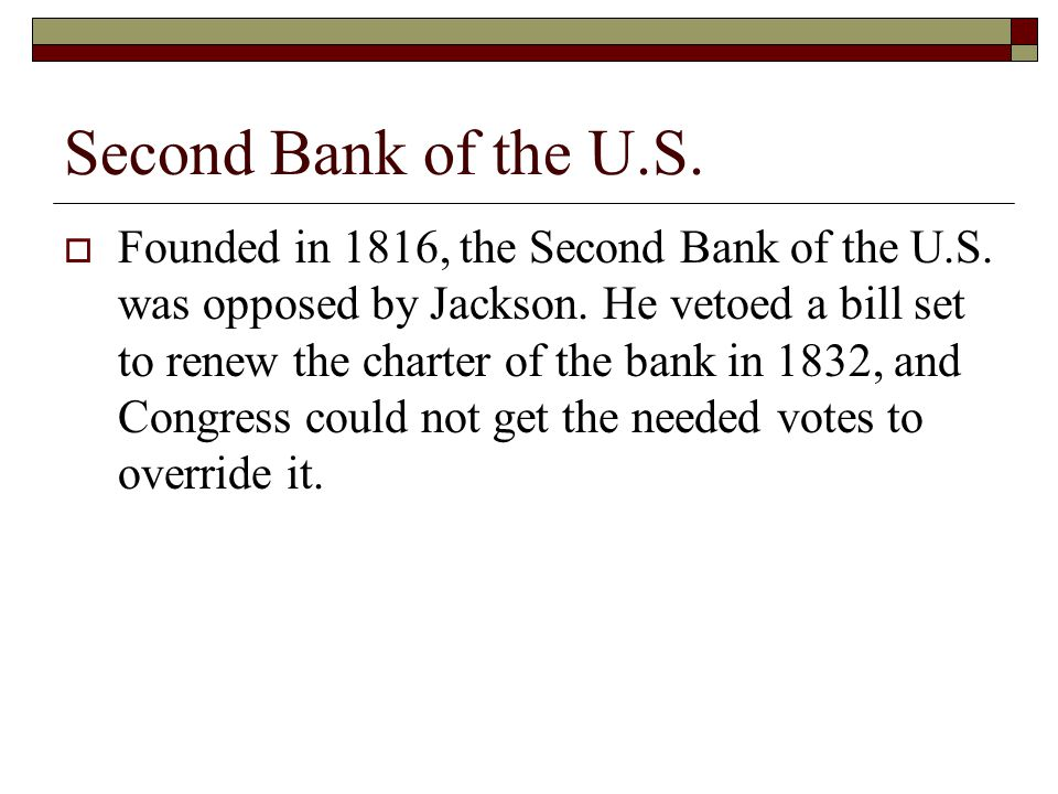 Second Bank of the U.S.