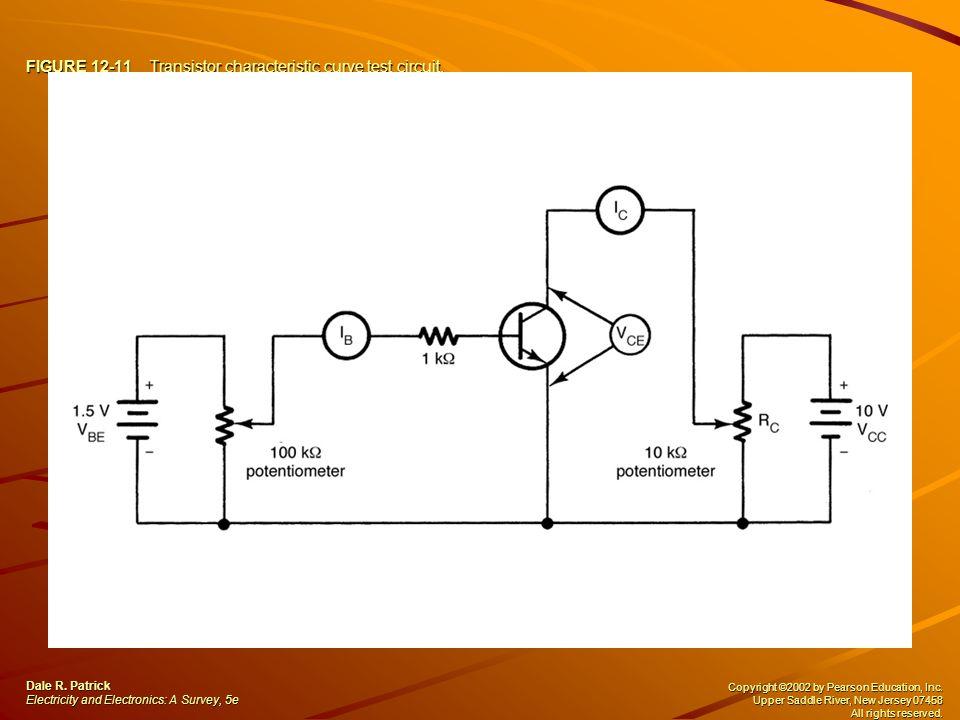FIGURE 12-11 Transistor characteristic curve test circuit.