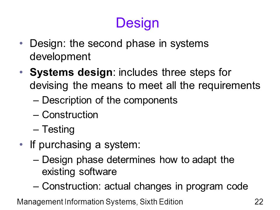 Design Design: the second phase in systems development