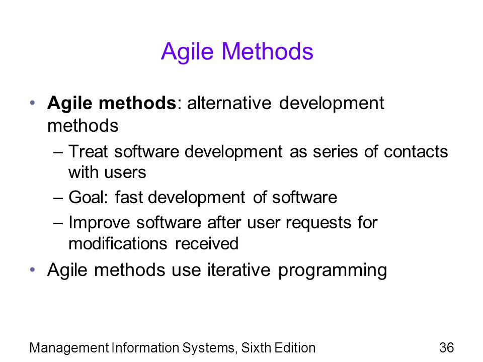 Agile Methods Agile methods: alternative development methods