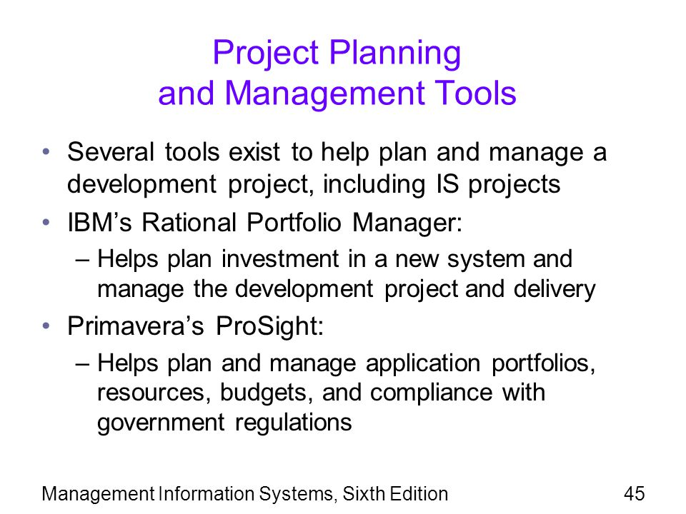 Project Planning and Management Tools