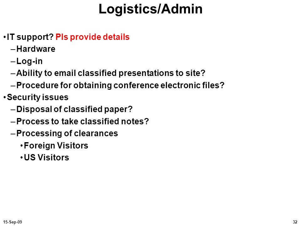 Logistics/Admin IT support Pls provide details Hardware Log-in