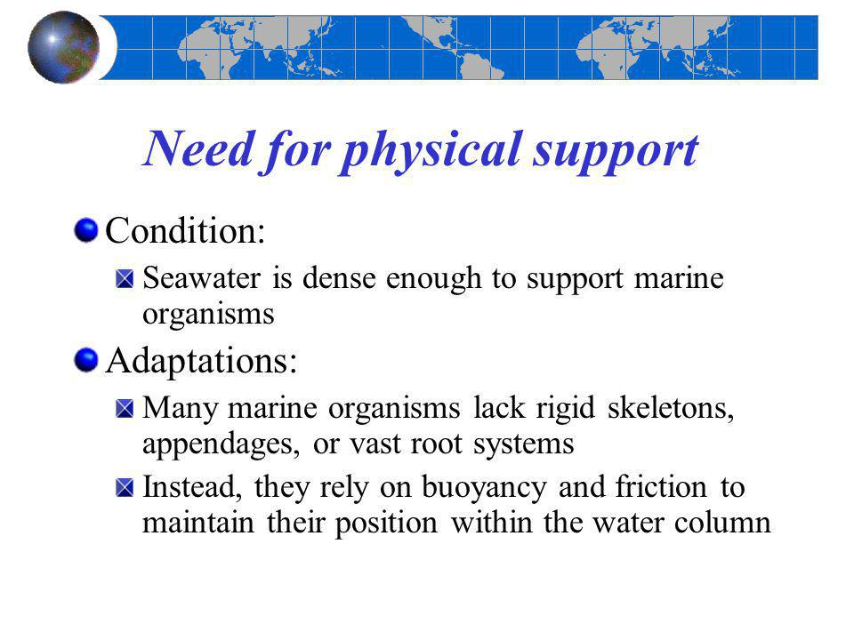 Need for physical support