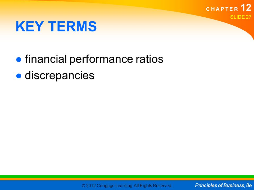 KEY TERMS financial performance ratios discrepancies