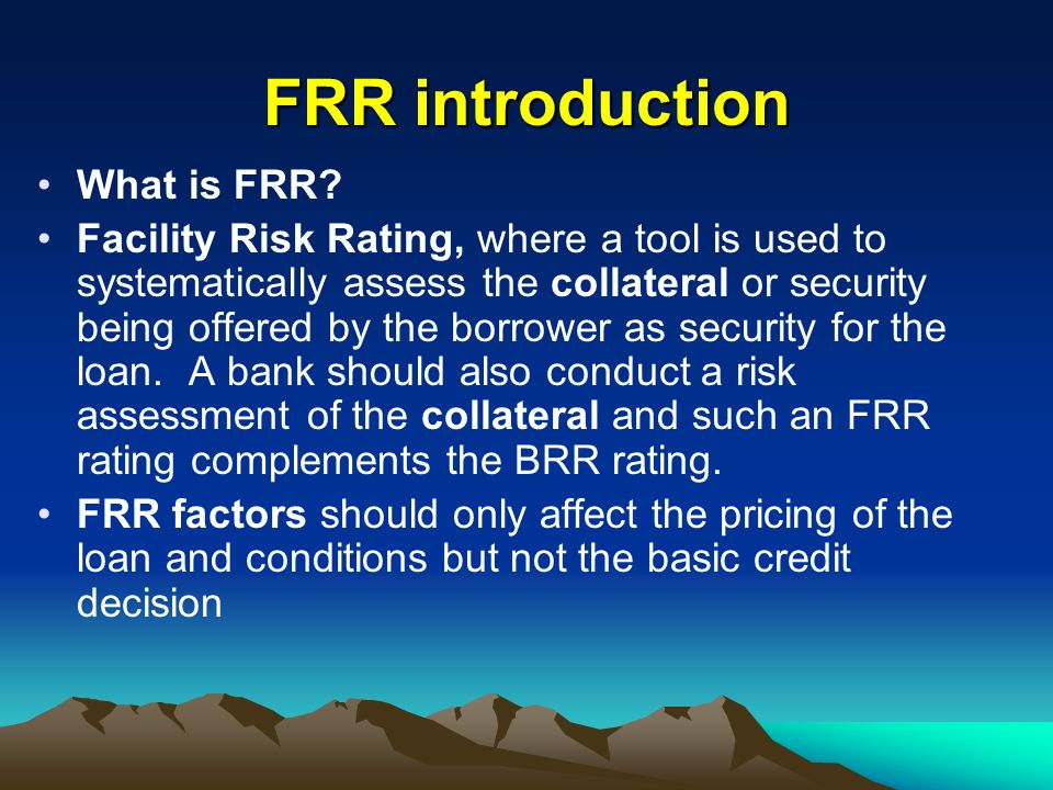 FRR introduction What is FRR