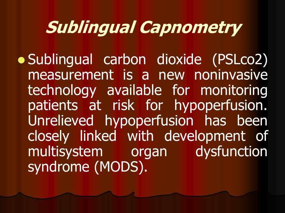 Sublingual Capnometry