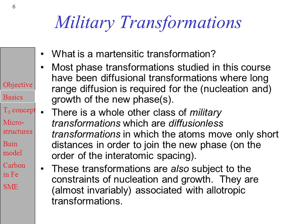 Military Transformations