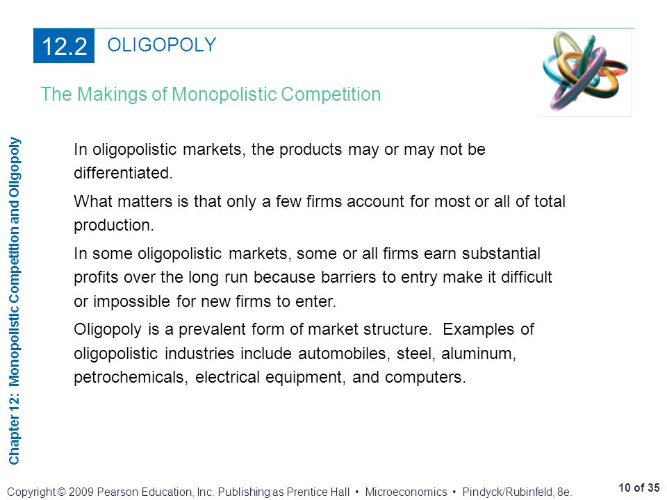 12.2 OLIGOPOLY The Makings of Monopolistic Competition