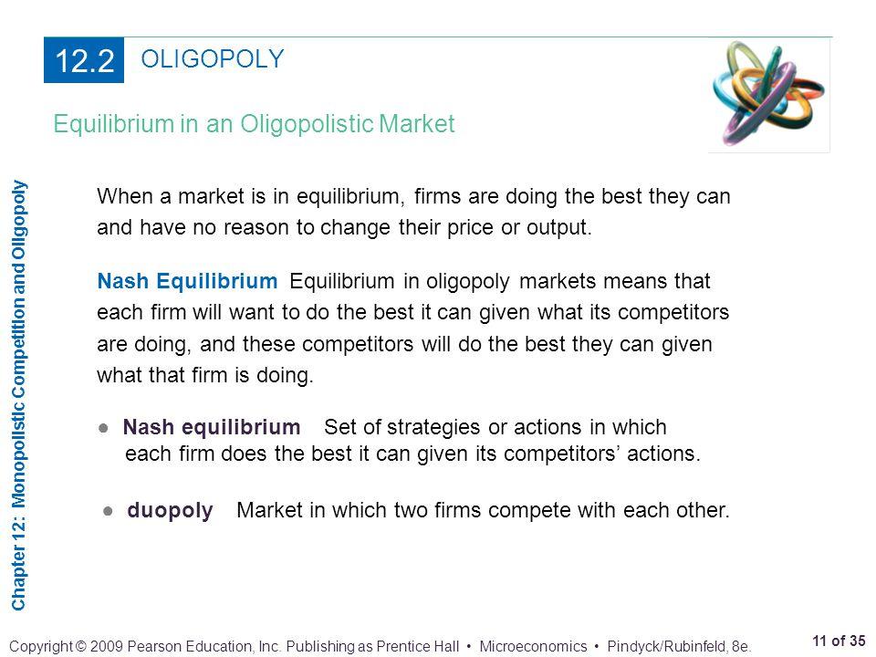 12.2 OLIGOPOLY Equilibrium in an Oligopolistic Market