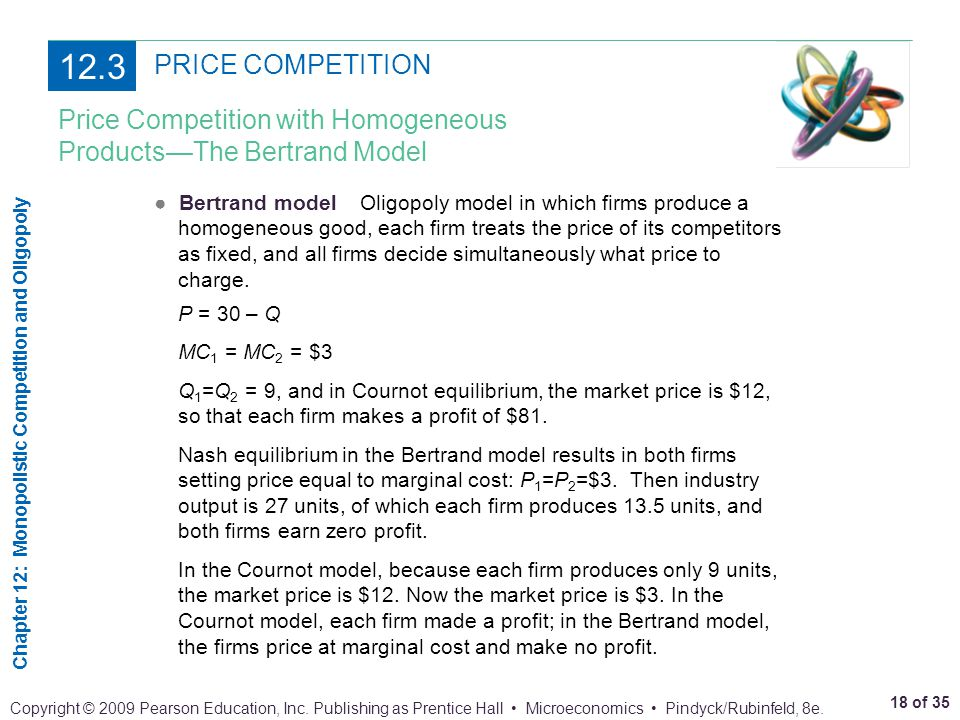 12.3 PRICE COMPETITION Price Competition with Homogeneous