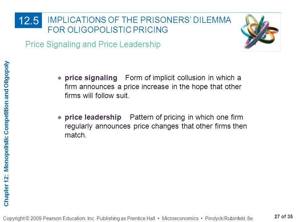 IMPLICATIONS OF THE PRISONERS' DILEMMA FOR OLIGOPOLISTIC PRICING