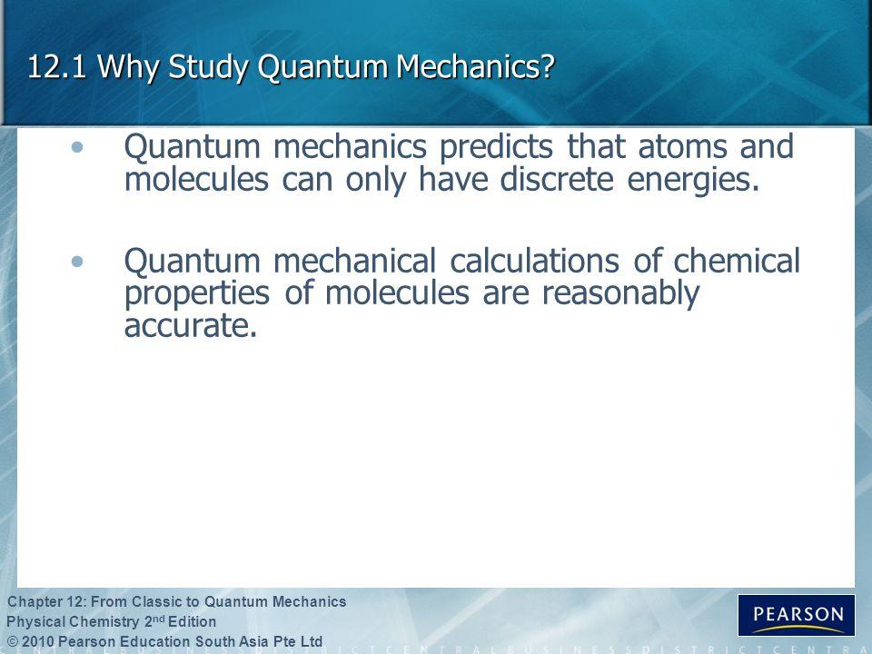 12.1 Why Study Quantum Mechanics