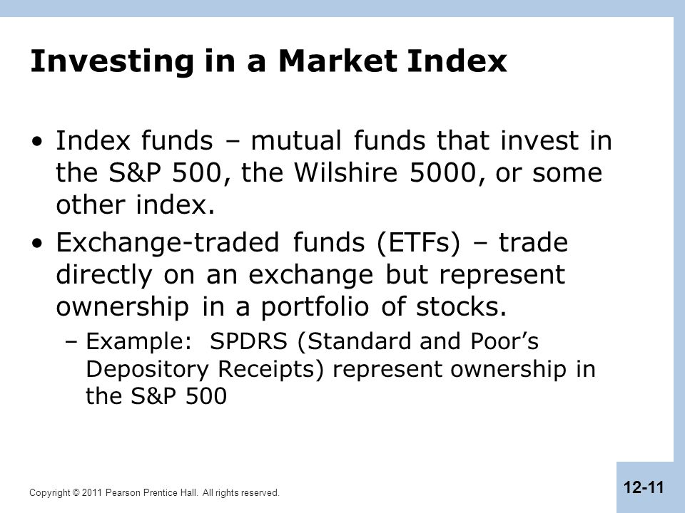 Investing in a Market Index
