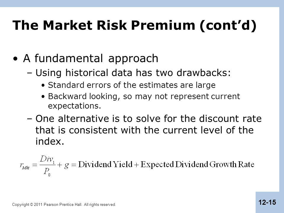 The Market Risk Premium (cont'd)