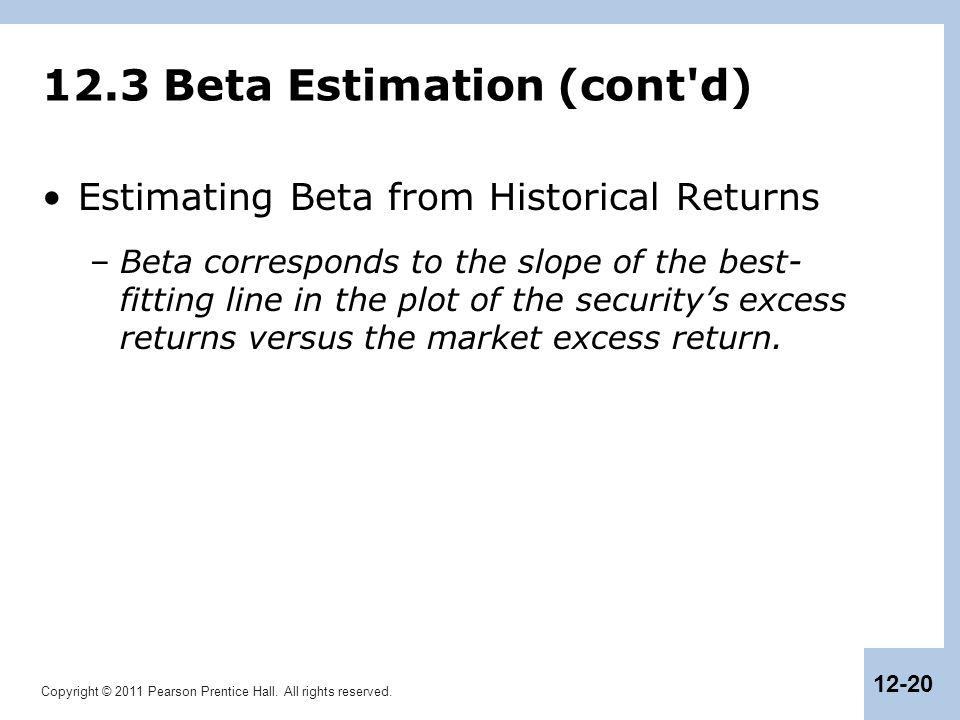 12.3 Beta Estimation (cont d)