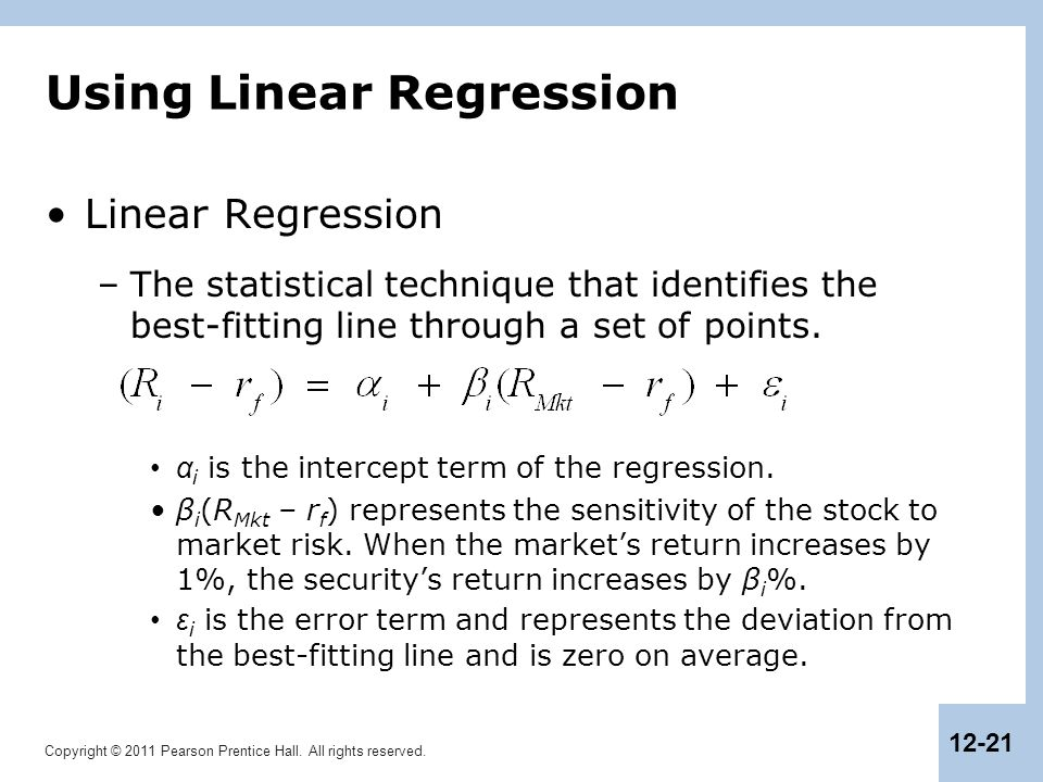 Using Linear Regression