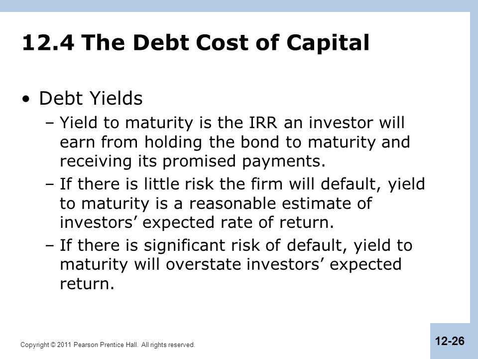 12.4 The Debt Cost of Capital