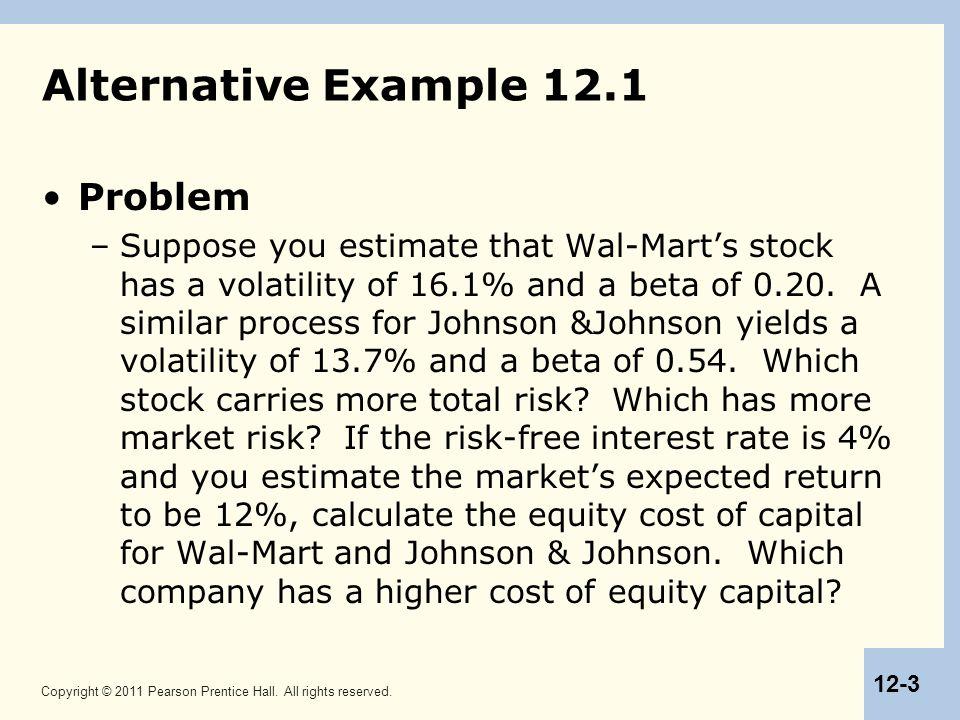 Alternative Example 12.1 Problem