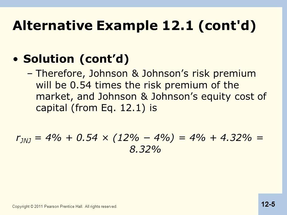 Alternative Example 12.1 (cont d)