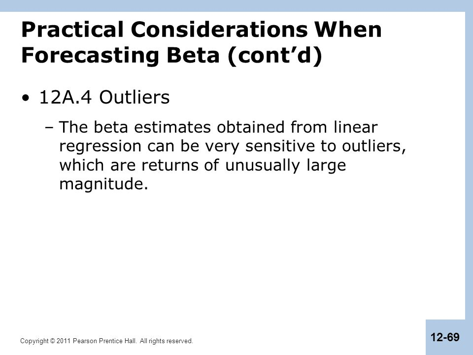 Practical Considerations When Forecasting Beta (cont'd)