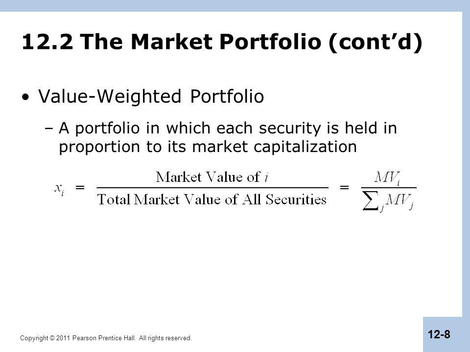12.2 The Market Portfolio (cont'd)