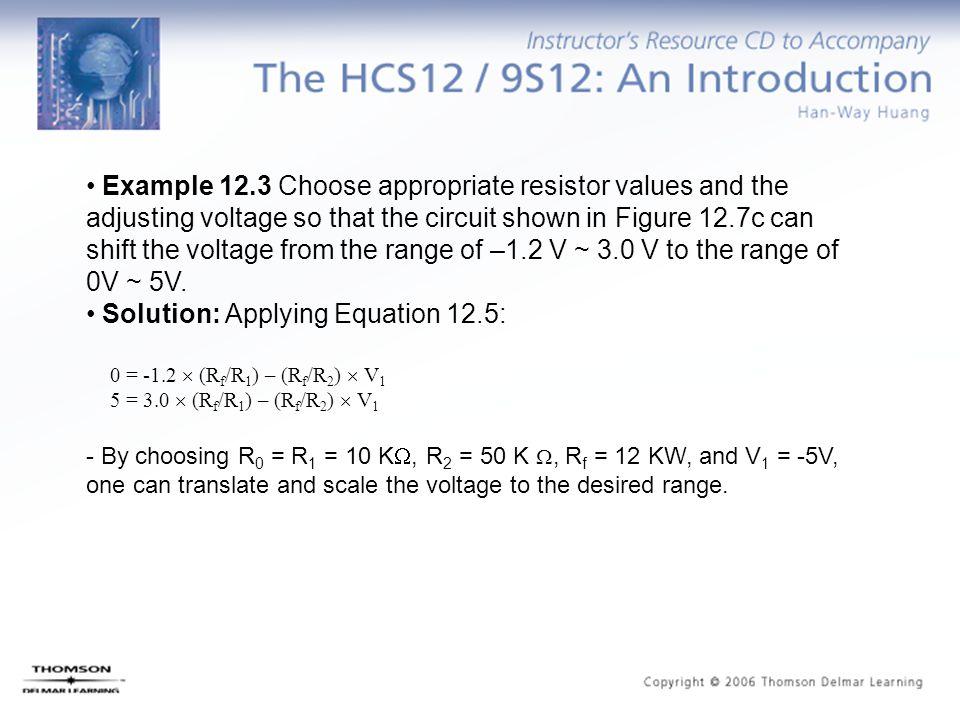 Solution: Applying Equation 12.5: