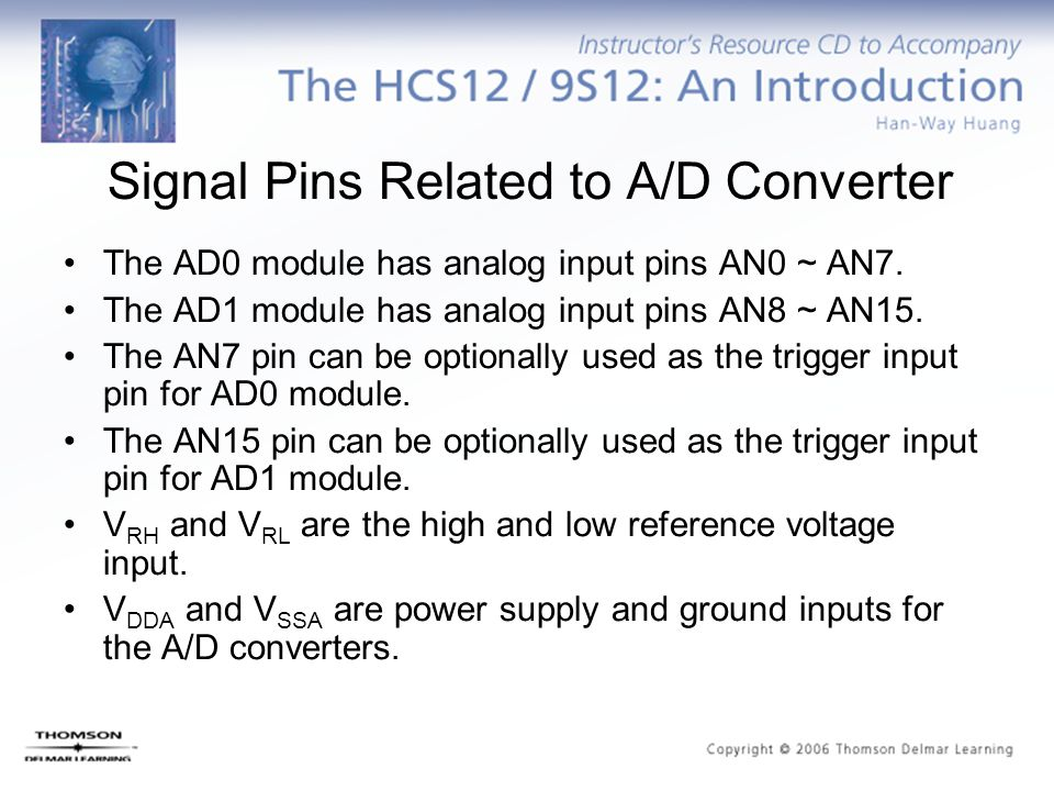 Signal Pins Related to A/D Converter