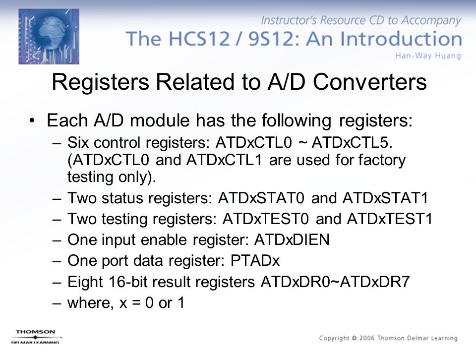 Registers Related to A/D Converters