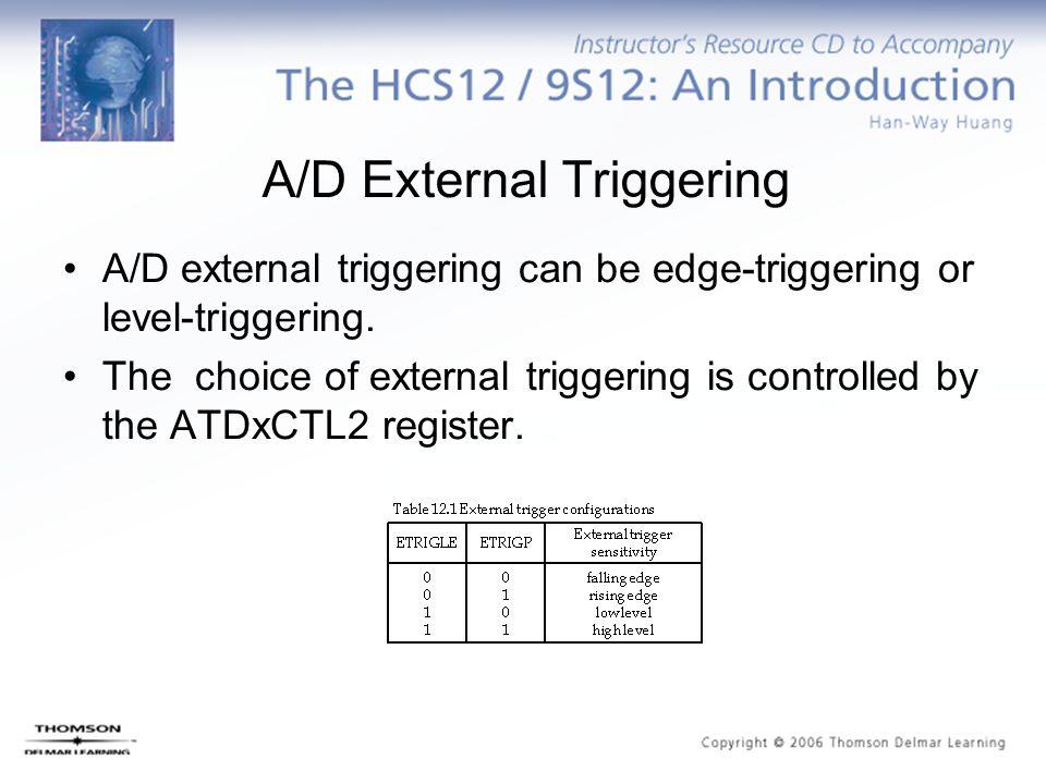 A/D External Triggering