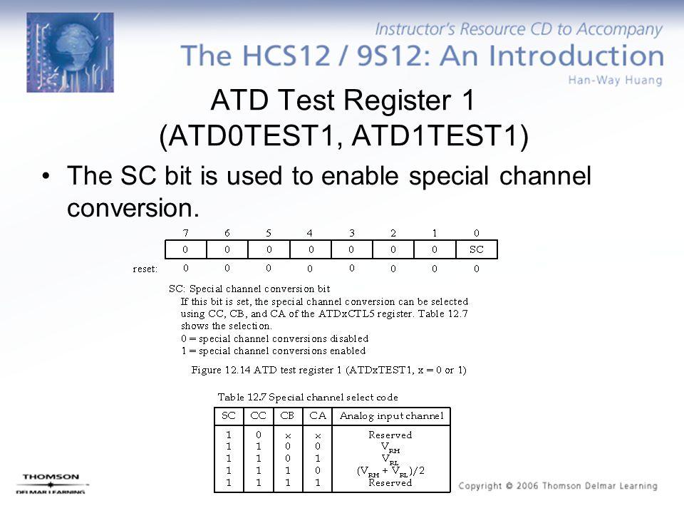 ATD Test Register 1 (ATD0TEST1, ATD1TEST1)