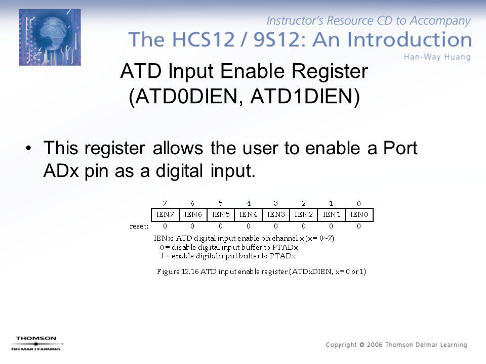 ATD Input Enable Register (ATD0DIEN, ATD1DIEN)
