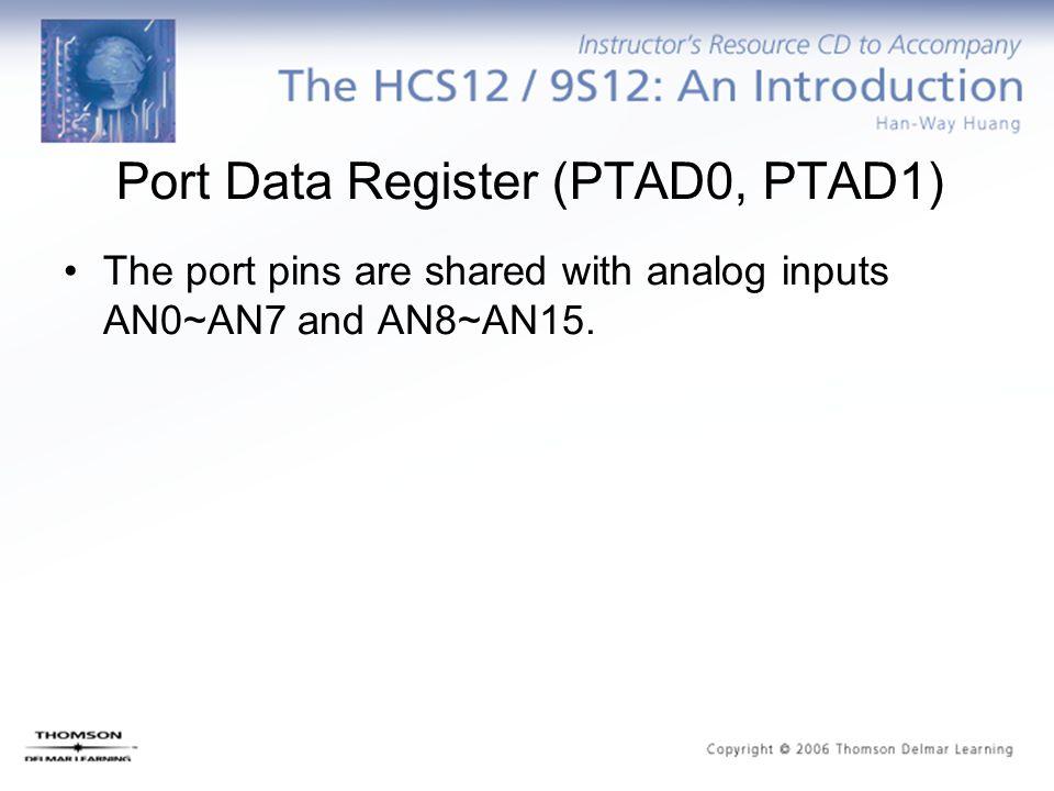 Port Data Register (PTAD0, PTAD1)