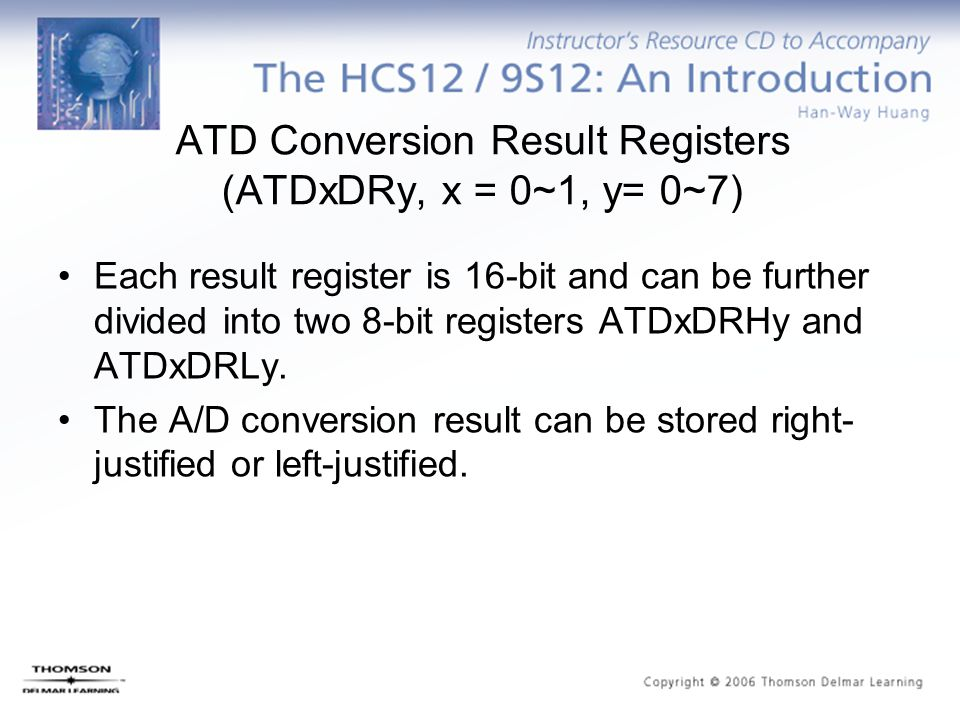 ATD Conversion Result Registers (ATDxDRy, x = 0~1, y= 0~7)