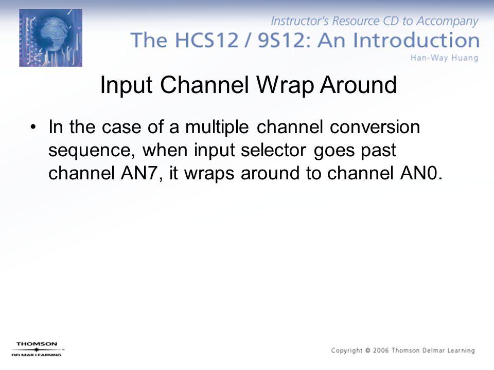 Input Channel Wrap Around
