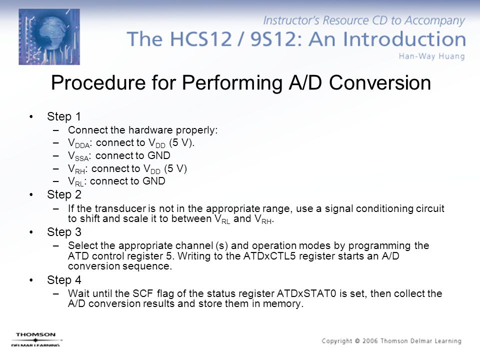 Procedure for Performing A/D Conversion