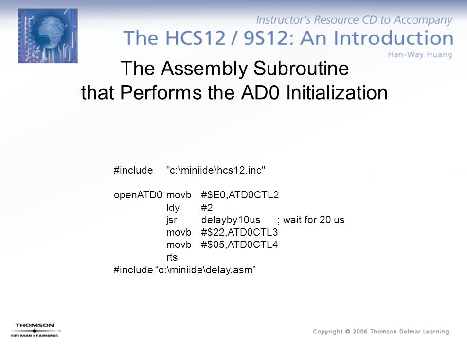 The Assembly Subroutine that Performs the AD0 Initialization