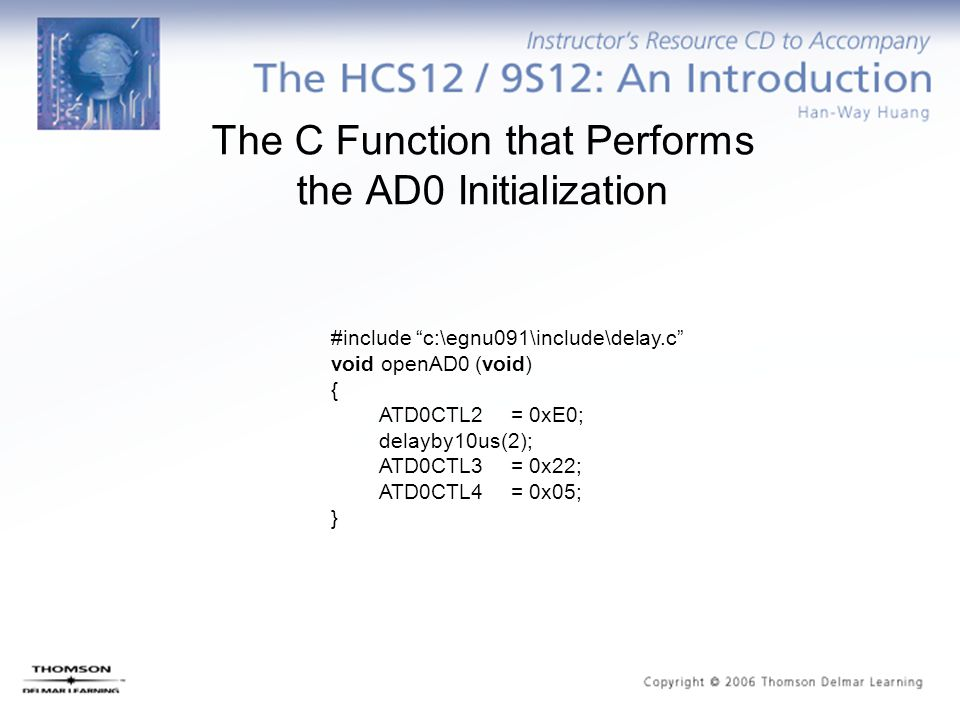 The C Function that Performs the AD0 Initialization