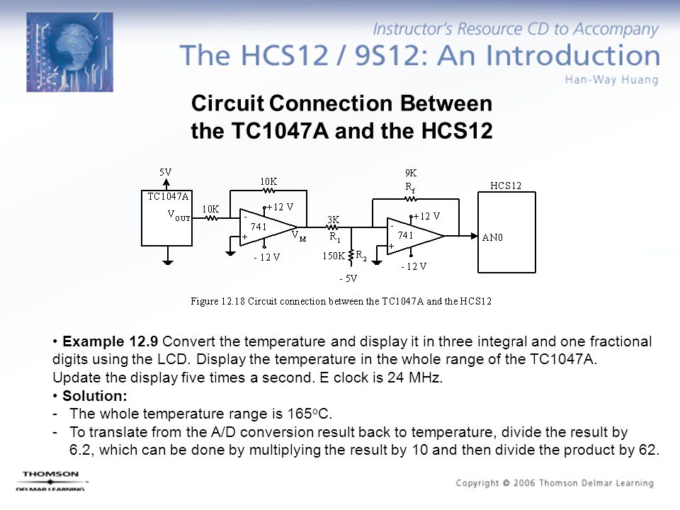 Circuit Connection Between the TC1047A and the HCS12