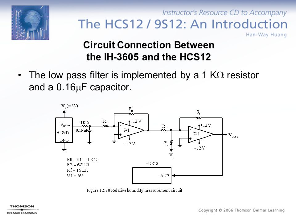 Circuit Connection Between the IH-3605 and the HCS12