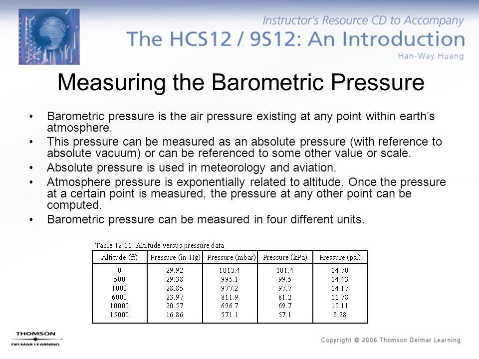 Measuring the Barometric Pressure