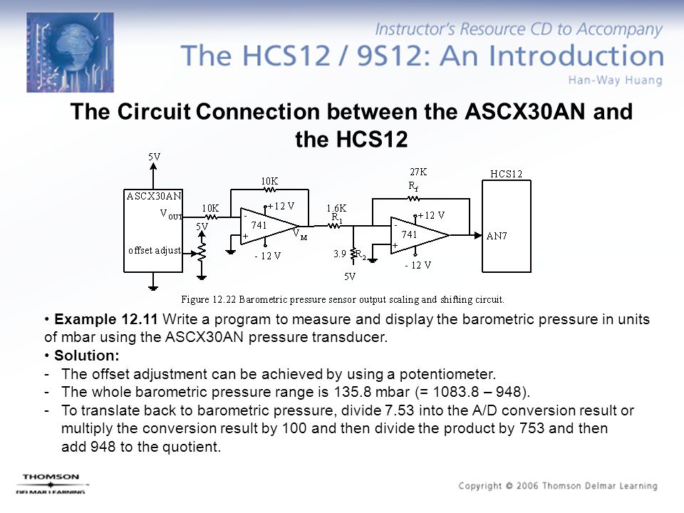 The Circuit Connection between the ASCX30AN and the HCS12