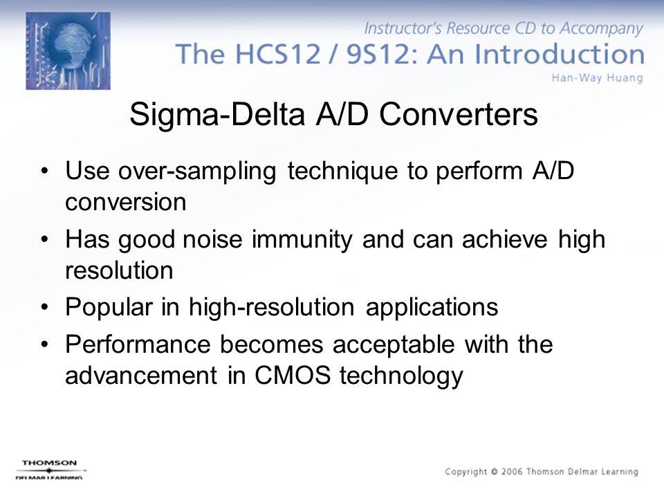 Sigma-Delta A/D Converters